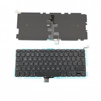 """Клавиатура за лаптоп Apple MacBook Pro Unibody A1278 MB467 Models 13.3"""" Black With Backlit / Черна с Голям Ентър (UI) с Подсветка"""