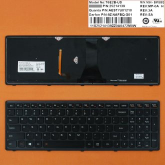 Клавиатура за лаптоп Lenovo IdeaPad G505S G500S Черна с Черна Рамка с Подсветка US With Backlit