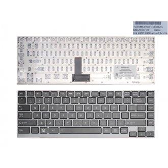 Клавиатура за лаптоп Toshiba Satellite U900 Z930 Z935 Z830 Z835 Черна със Сива Рамка