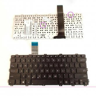 Клавиатура за лаптоп Asus F301 F301A X301 X301A Черна Без Рамка (Малък Ентър) / Black Without Frame US