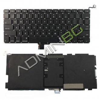 """Клавиатура за лаптоп Apple MacBook Pro Unibody A1278 Models 13.3"""" Black With Backlit (Version 2) / Черна с Малък Ентър (US) с Подсветка"""