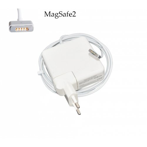 Зарядно за лаптоп (Laptop AC Adapter) Apple - MagSafe2 14.85V / 3.05A / 45W Шуко - Заместител / Replacement