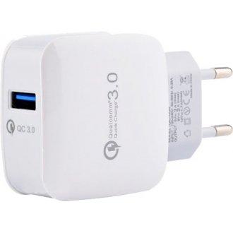 Интелигентно USB зарядно (USB Adapter) 3.0 USB Intelligent Charger White / Бяло