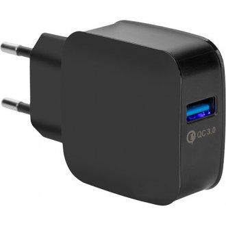 Интелигентно USB зарядно (USB Adapter) 3.0 USB Intelligent Charger Black / Черно