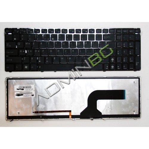 Клавиатура за лаптоп Asus G72 G72Gx G73 F50 F50S Black Frame Black With Backlit Glossy US/UK с Кирилица