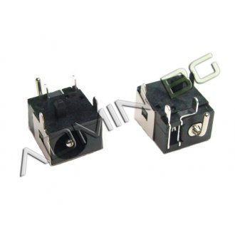 Букса за лаптоп (DC Power Jack) PJ038 1.65 center pin Acer Aspire 2350 3690 5100 5610 9500 - Черна Букса (Black)