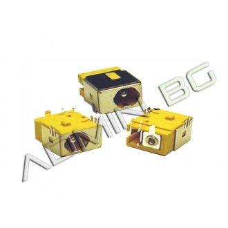 Букса за лаптоп (DC Power Jack) PJ056 1.65mm Acer Aspire 3650 3660 3680 5040 5050 5570 Жълта Букса (Yellow)