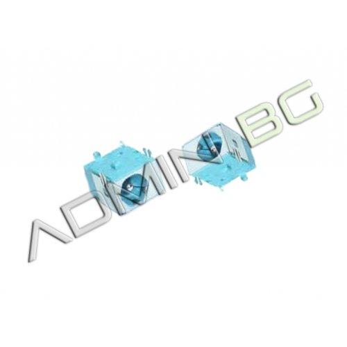 Букса за лаптоп (DC Power Jack) PJ056 1.65mm Acer Aspire 3650 3660 3680 5040 5050 5570 Синя Букса (Blue)
