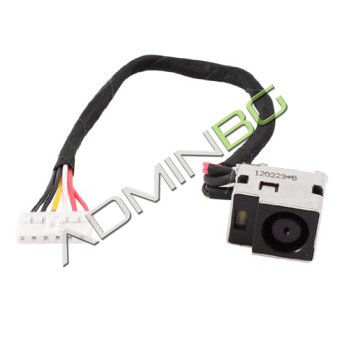 Букса за лаптоп (DC Power Jack) PJ152 HP DV5 DV5t DV5z (With Cable) 6 pins With Cable