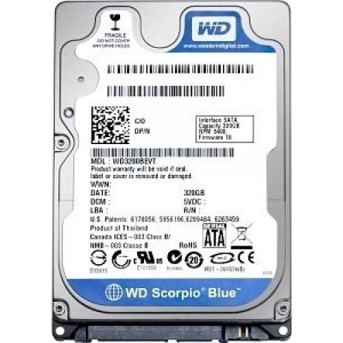 Хард диск за лаптоп - HDD for Notebook WD Scorpio Blue 1TB 5400/SATA3/8MB WD10JPVX
