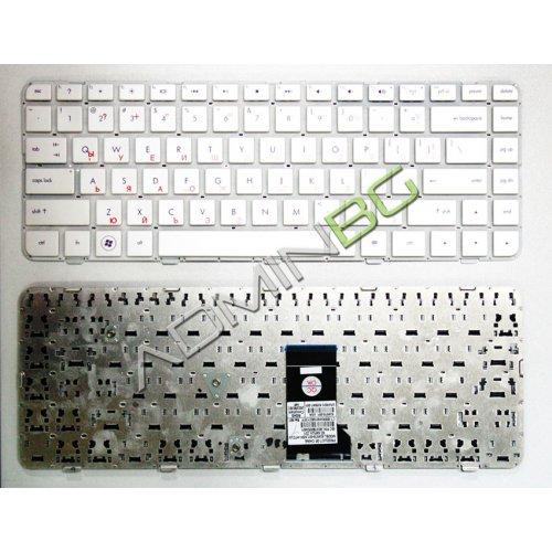Клавиатура за лаптоп HP Pavilion DV5-2040 DM4-1000 Бяла Без рамка с Кирилица
