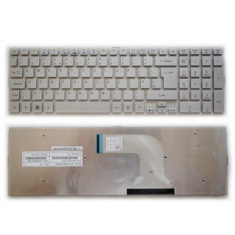 Клавиатура за лаптоп Acer Aspire 5943G 5950G 8943G 8950G Сребриста Без Рамка (Голям Ентър) / Silver Without Frame UK