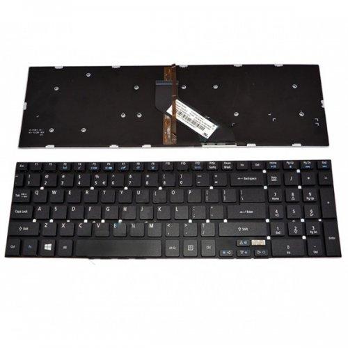 Клавиатура за лаптоп Acer Aspire V3-572 TMP455 5830* 5755* Black Without Frame Backlit (Подсветка) US/UK
