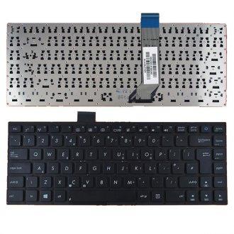Клавиатура за лаптоп Asus S400 S400C черна без рамка UK (с голям Enter) Type 2