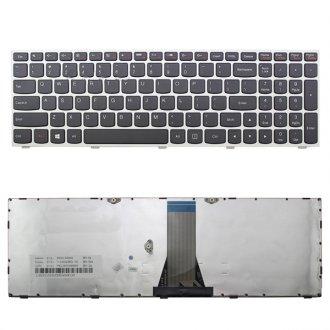 Клавиатура за лаптоп Lenovo IdeaPad B50-30 B50-40 B50-45 Сребриста рамка с Черни клавиши