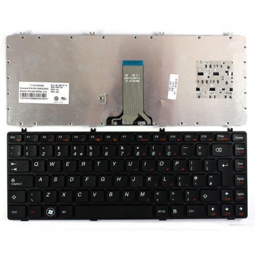Клавиатура за лаптоп Lenovo IdeaPad Y470 Y471 Y470M Y470N Black Frame Black
