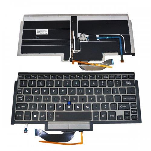 Клавиатура за лаптоп Toshiba Portege Z10T Сива Frame Черна Backlit With Point stick