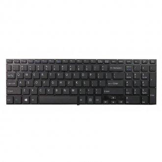 Клавиатура за лаптоп Sony Vaio Fit 15 SVF15A190X SVF15A1M2E SVF-15A1Z2EB Black Without Frame US / Черна Без Рамка (Малък Ентър)