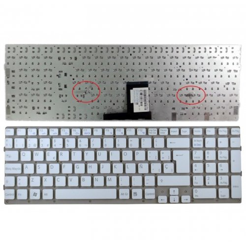 Клавиатура за лаптоп Sony Vaio VPC-EC VPCEC White Without Frame SP
