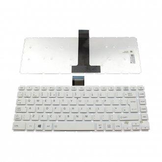 Клавиатура за лаптоп Toshiba L40-B Бяла Без Рамка с Голям Ентър (UK) / White Without Frame