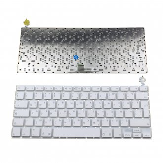 Клавиатура за лаптоп Apple MacBook A1181 White Without Frame UK / Бяла Без Рамка (Голям Ентър)