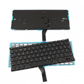 Клавиатура за лаптоп Apple MacBook Air A1369 / A1466 Black Backlit Without Frame UK / Черен Без Рамка с Подсветка (Голям Ентър) Version 1