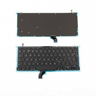 """Клавиатура за лаптоп Apple MacBook Pro A1502 13.3"""" - Черна Без Рамка с Голям Ентър с Подсветка"""