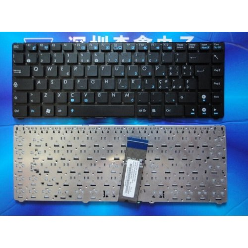 Клавиатура за лаптоп Asus Eee PC 1225 Without Frame Black US/UK с Кирилица