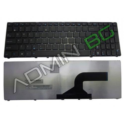 Клавиатура за лаптоп Asus G51 A52 N60 N61 N70 N71 K53 Black Frame Black Matt US/UK с Кирилица