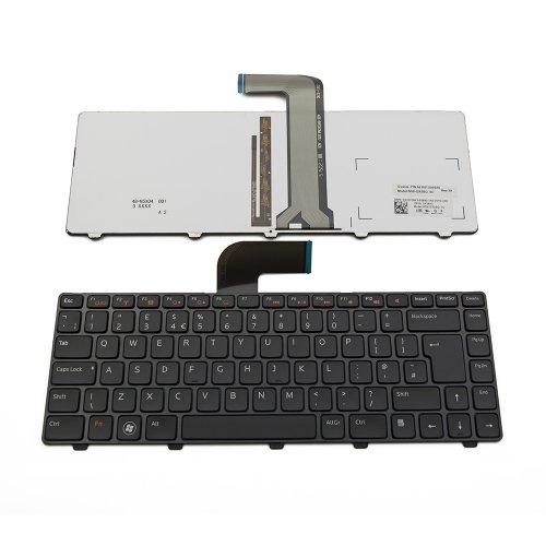 Клавиатура за лаптоп Dell Inspiron N411z N5040 N5050 M5040 N4110 5520 5525 7520 Черна с Черна Рамка с Подсветка / Black Frame Black With Backlit