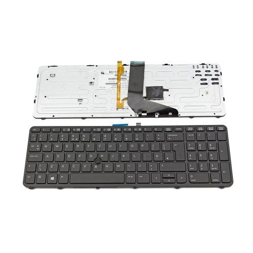 Клавиатура за лаптоп HP ZBook 15 ZBook 15 G2 ZBook 17 ZBook 17 G2 Черна с Черна Рамка