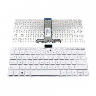 Клавиатура за лаптоп HP Pavilion 11-K Бяла Без Рамка с Малък Ентър (US) / White Without Frame