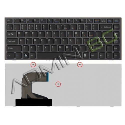 Клавиатура за лаптоп Sony Vaio VPC-S Series Black Frame Black With Backlit