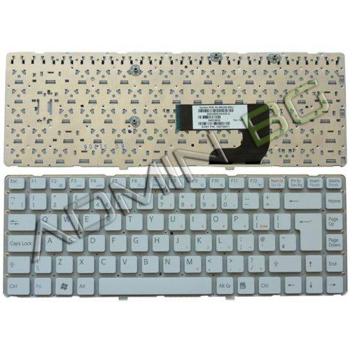 Клавиатура за лаптоп Sony Vaio VGN-NW US БЯЛА БЕЗ РАМКА