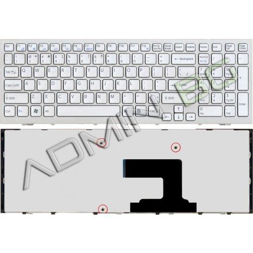 Клавиатура за лаптоп Sony Vaio VPC-EL White Frame White