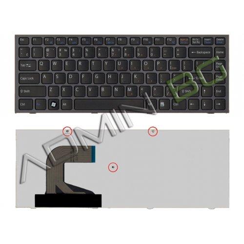 Клавиатура за лаптоп Sony Vaio VPC-S Series Черна с Черна Рамка / Black Frame Black