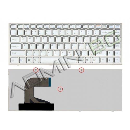 Клавиатура за лаптоп Sony Vaio VPC-S Series Silver Frame White