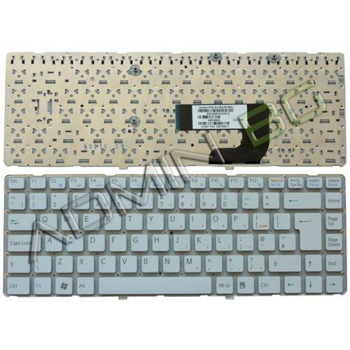 Клавиатура за лаптоп Sony Vaio VGN-NW UK БЯЛА БЕЗ РАМКА