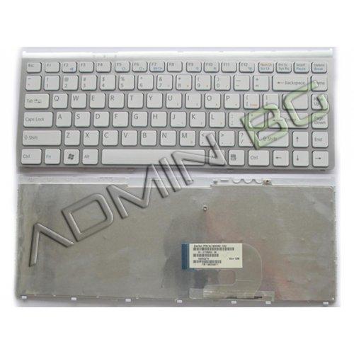 Клавиатура за лаптоп Sony Vaio VGN-FW VGN FW Series Бяла със Сребриста Рамка / Silver Frame White