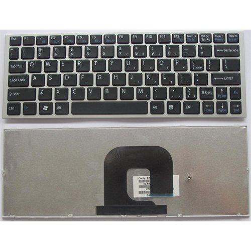 Клавиатура за лаптоп Sony Vaio VPC-YA VPC-YB Silver Frame Black US