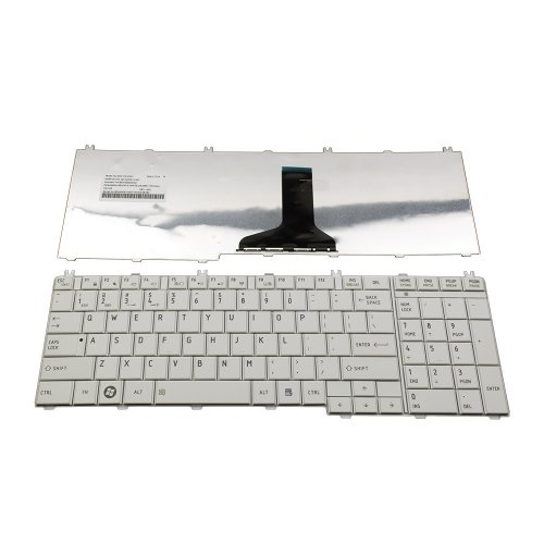 Клавиатура за лаптоп Toshiba Satellite C650 C655 C660 L650 L655 Бяла с Кирилица