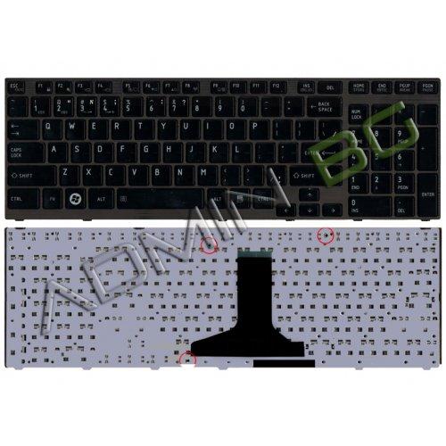Клавиатура за лаптоп Toshiba Satellite P750 Черна Гланцова с Черна Рамка