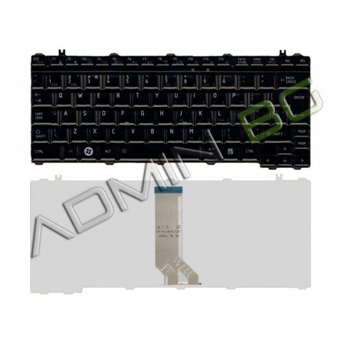 Клавиатура за лаптоп Toshiba Satellite U400 U405 Черна Гланцова с Кирилица
