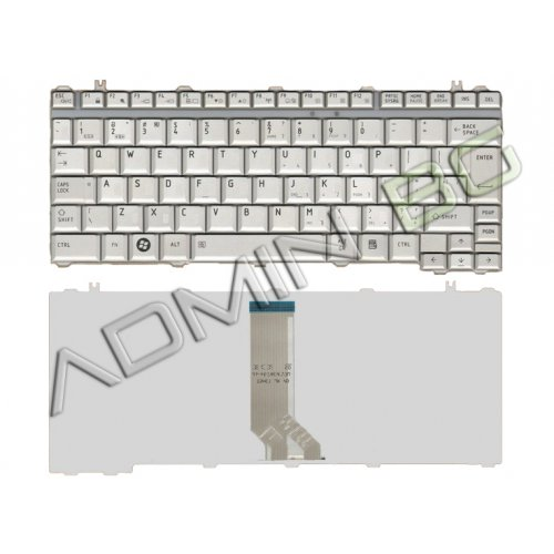 Клавиатура за лаптоп Toshiba Satellite U400 U405 Бяла US с Кирилица