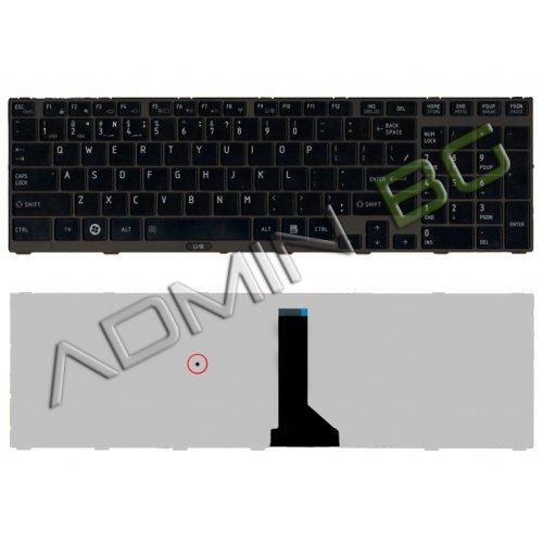 Клавиатура за лаптоп Toshiba Tecra R850 Черна Гланцова с Черна Рамка