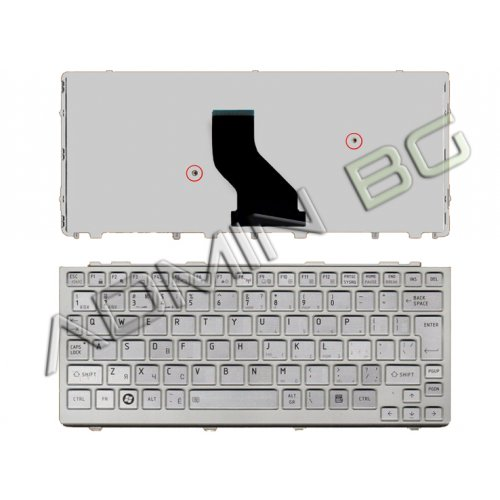 Клавиатура за лаптоп Toshiba Mini NB305 NB300 NB200 Сребриста с рамка