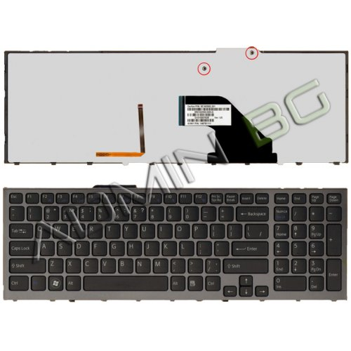 Клавиатура за лаптоп Sony Vaio VPC-F11M1EH Black Frame Black With Backlit US