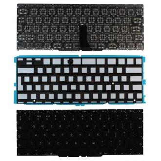 """Клавиатура за лаптоп Apple MacBook Air A1370 / A1465 11.6"""" Черна Без Рамка (Голям Ентър) с Подсветка / Black Without Frame Backlit UK"""