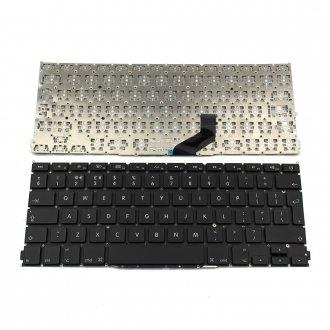 "Клавиатура за лаптоп Apple MacBook Air / Pro A1425 13.3"" (Без рамка, Черна, с Голям Enter) No Frame Black UK"