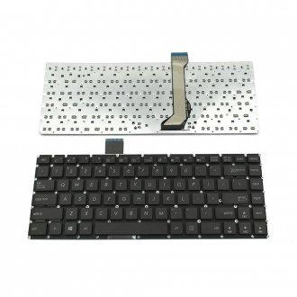Клавиатура за лаптоп Asus E402 E402M E402MA E402S E402SA E403SA Черна Без Рамка (Малък Ентър) / Black Without Frame US